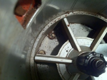 The two bolts at the bottom of the doser.