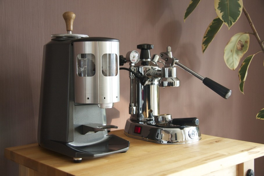 Restored Mazzer and La Pavoni Professional
