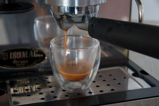 Good crema right from the start