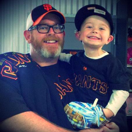 Chris Holder and son Logi