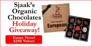 Sjaak's Organic Chocolates Holiday Giveaway