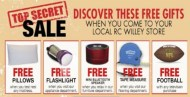 Free Pillows, Flashlights And More At RC Willey!