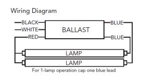 F96T8 Fluorescent Ballast Electronic Ballast T8 Ballast 59W