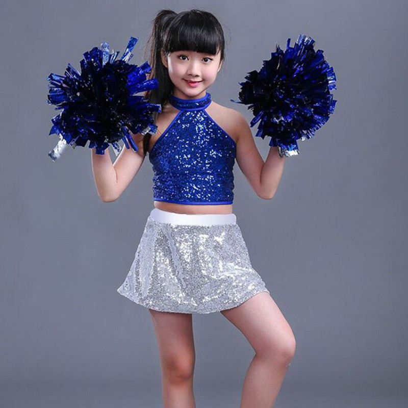 Kids Jazz Dance Costumes Cheerleaders Hiphop Street Modern Dance Outfits School Performance