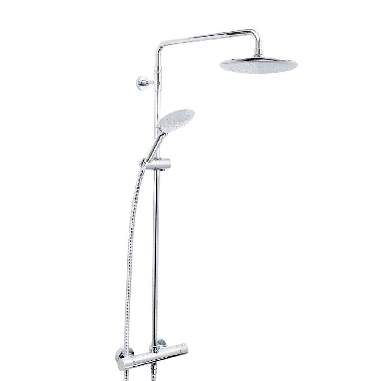 Bristan Carre Chrome Thermostatic Bar Shower Mixer With Rigid Riser Kit And Fast Fit Connections Cr Shxdivff C