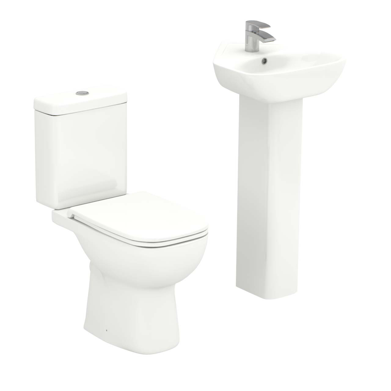 Forth Corner Full Pedestal Basin Amp Toilet Suite