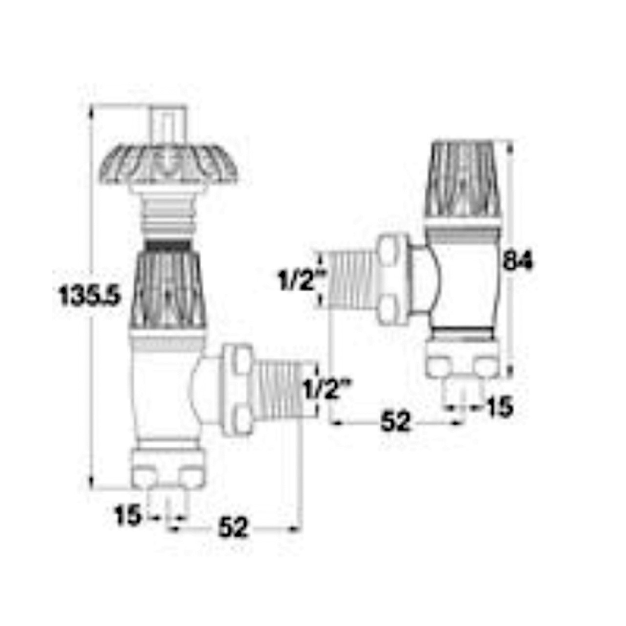 Hudson Reed Angled Thermostatic Radiator Valve And