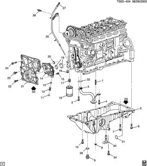 ENGINE ASM42L L6 PART 4 OIL PUMP, PAN AND RELATED PARTS