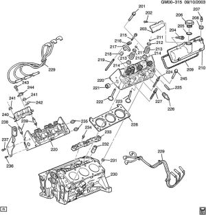 ENGINE ASM34L V6 PART 2 CYLINDER HEAD & RELATED PARTS