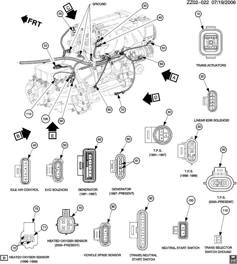 3vze Transmission To Engine Diagram Toyota T100 Exhaust
