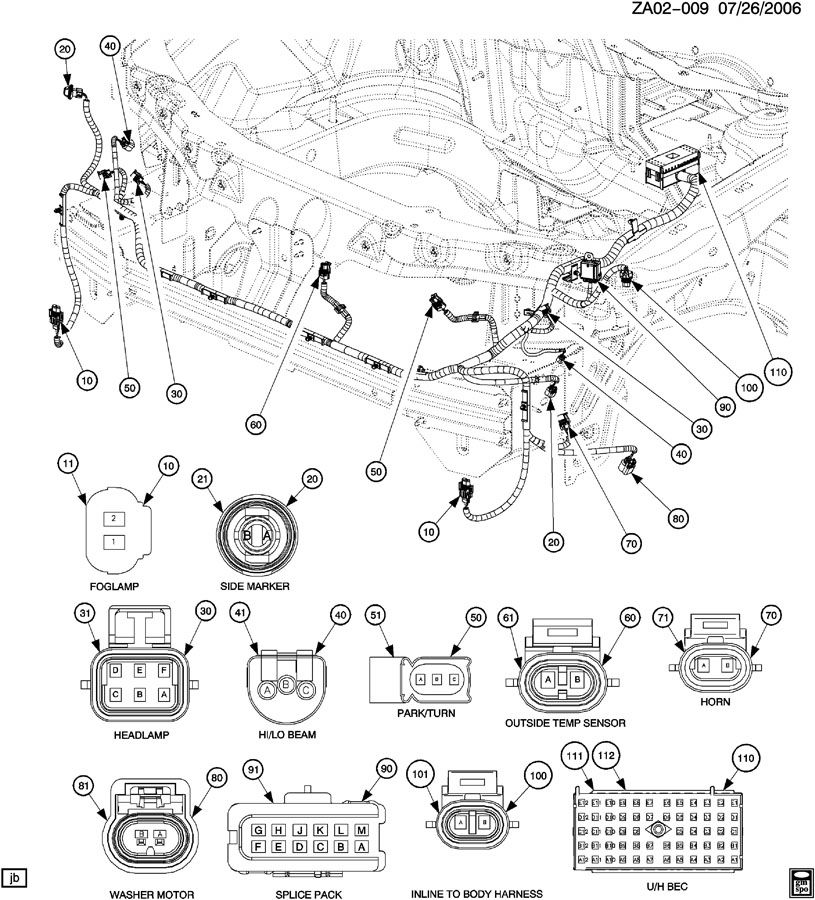 060726ZA02 009 2007 saturn ion headlight wiring diagram saturn wiring diagrams  at bayanpartner.co