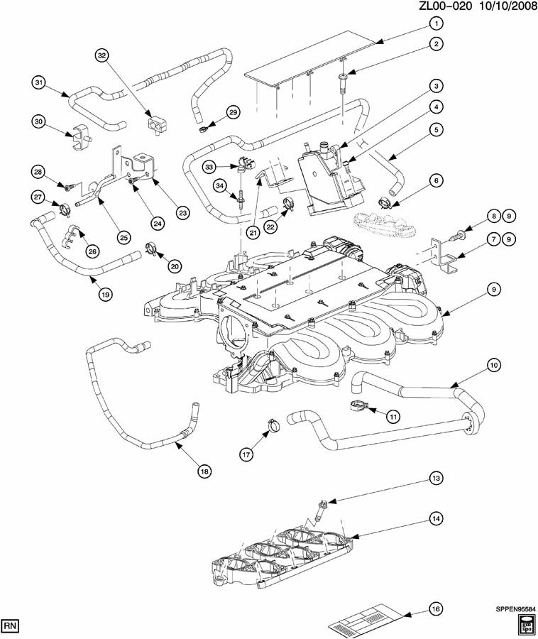 Saturn Ion Exhaust System Diagram