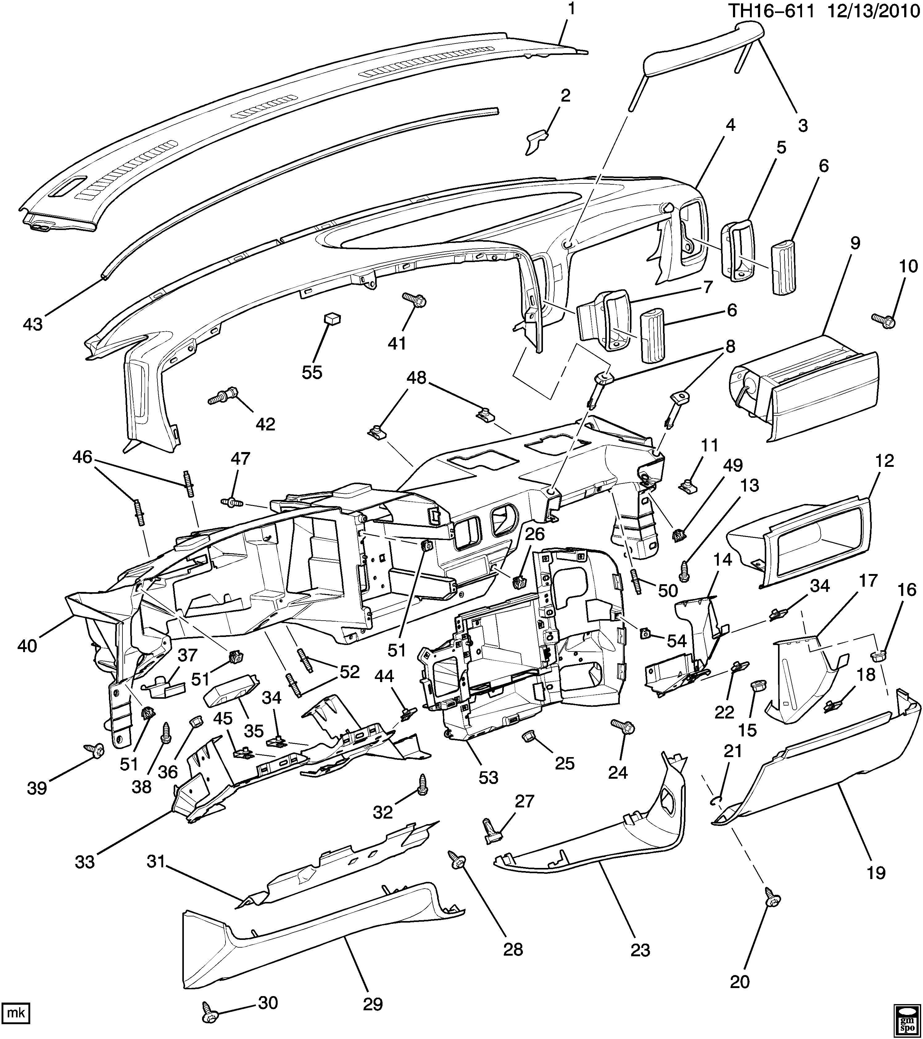 Gmc C Compartment Instrument Panel Compartment