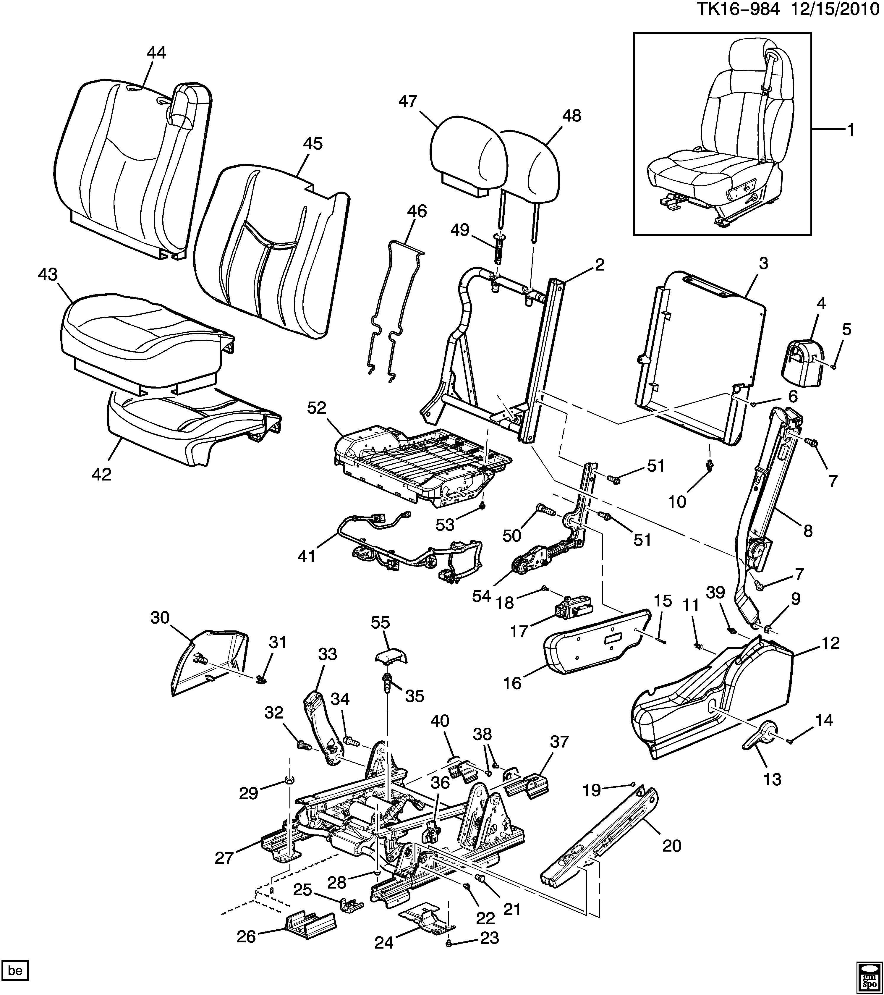 Chevrolet Silverado Driver Seat Split Bench