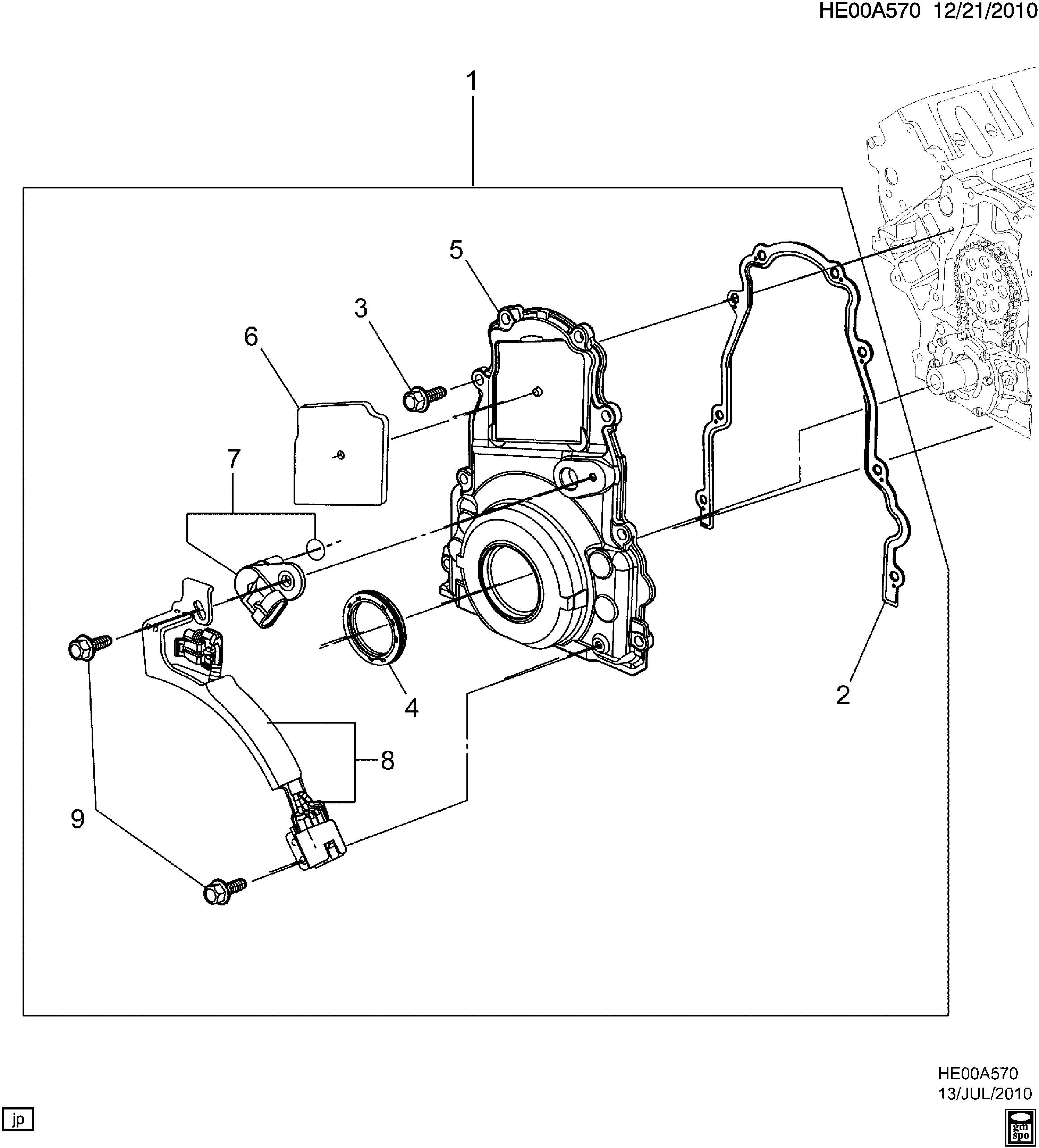 Chevrolet Caprice Gasket Engine Front Cover Cvroptional