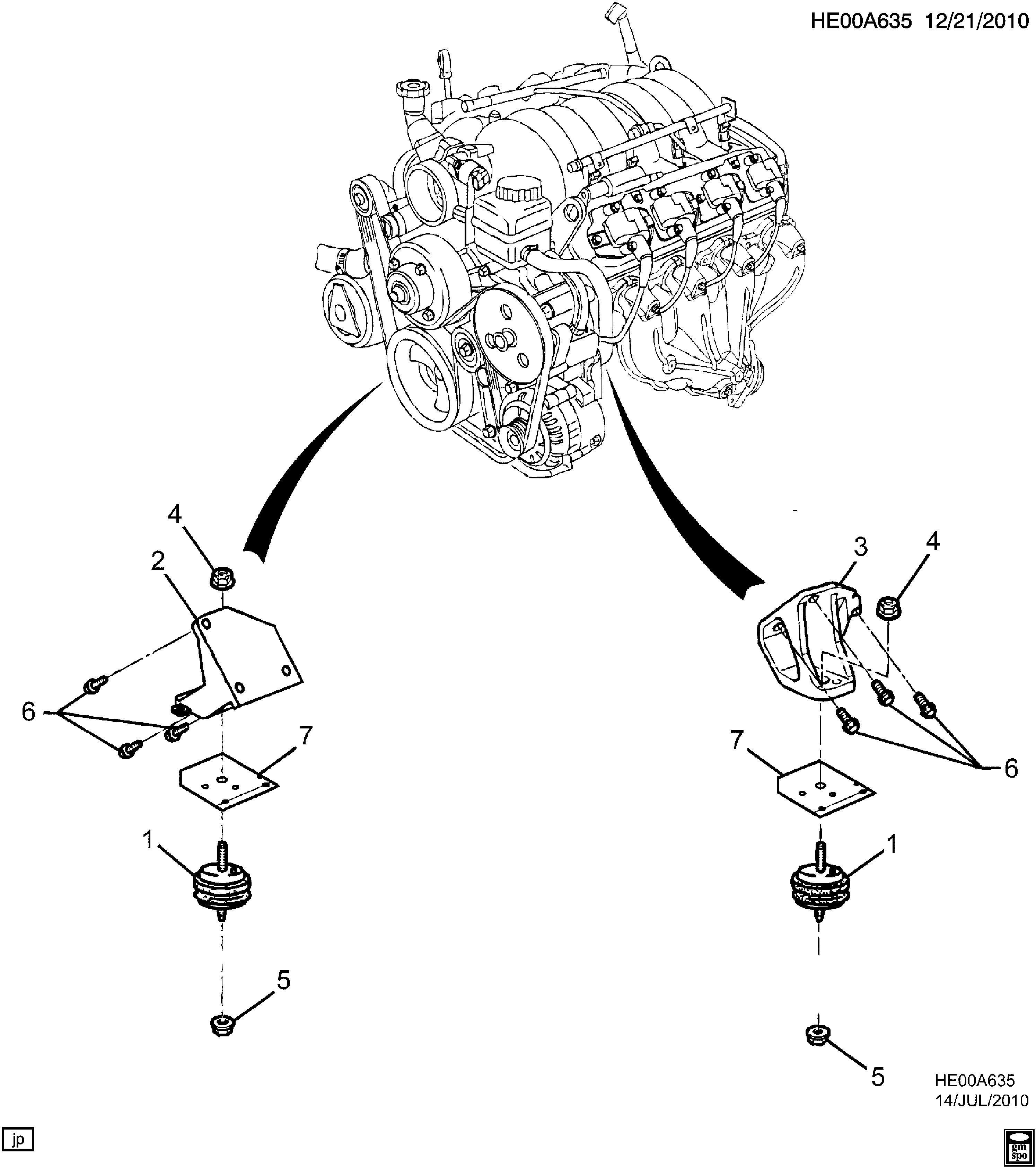 Pontiac G8 Bolt Engine Mounting Exhaust Muffler