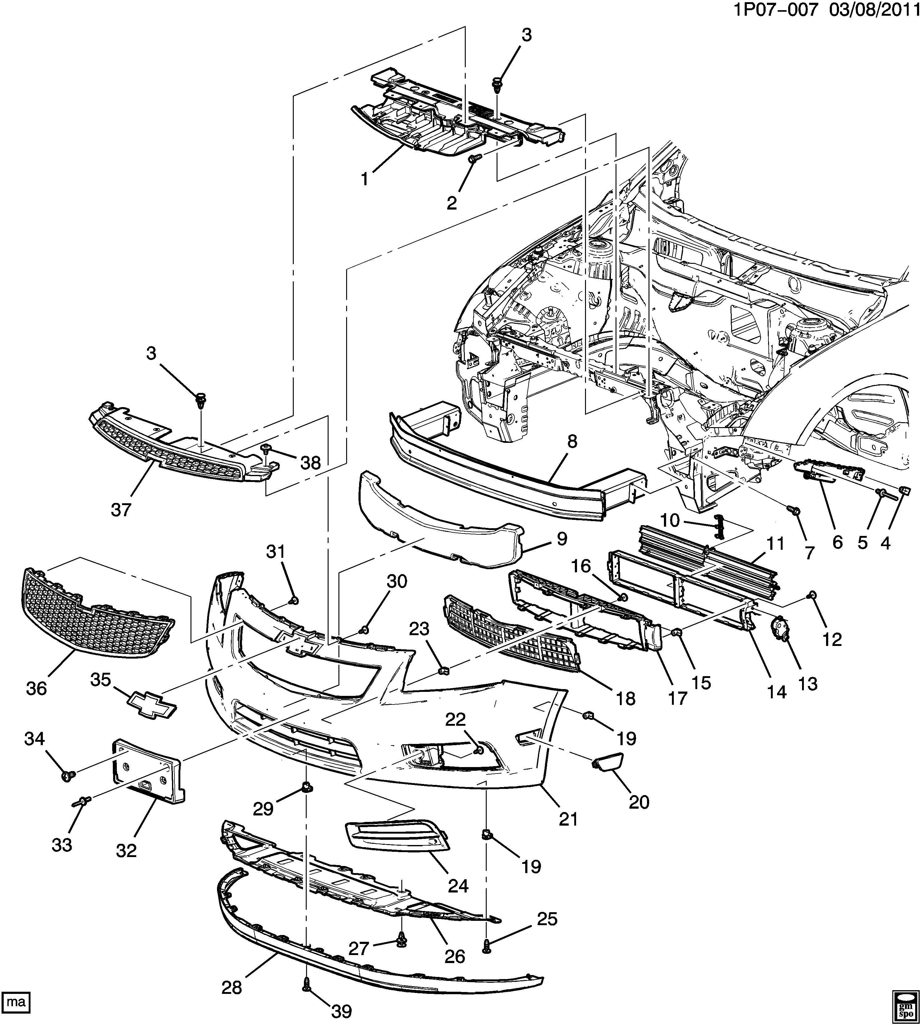 34 Chevy Cruze Parts Diagram