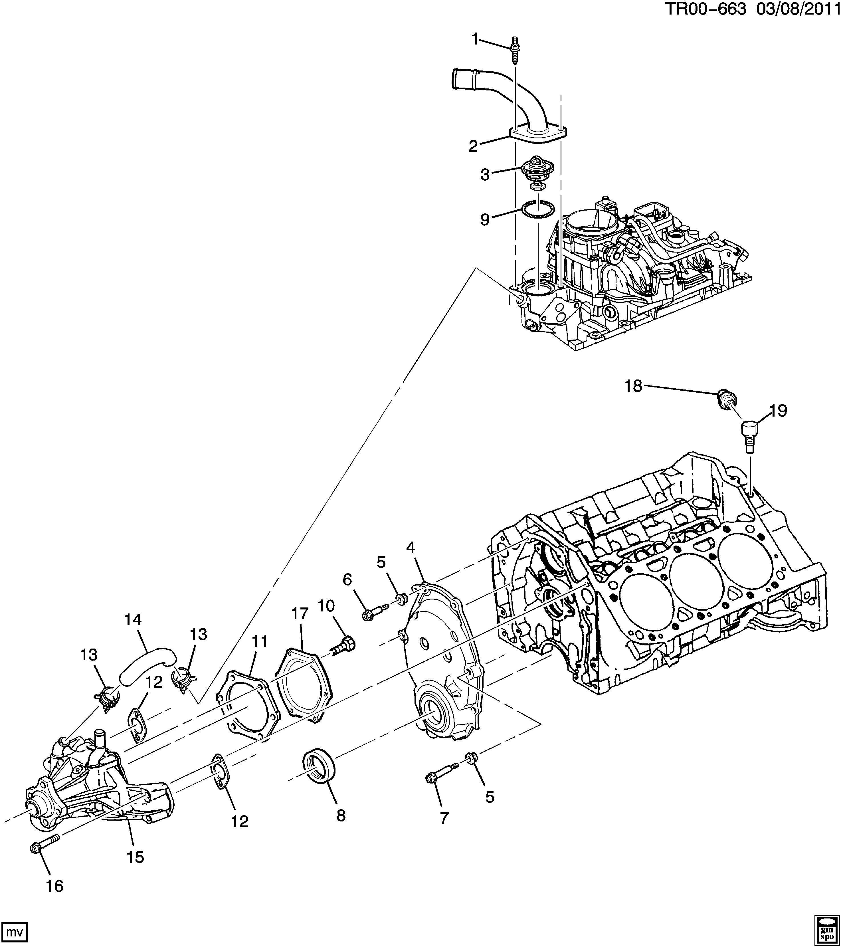 Chevrolet S10 Bolt Engine Front Cover Bolt Eng Frt