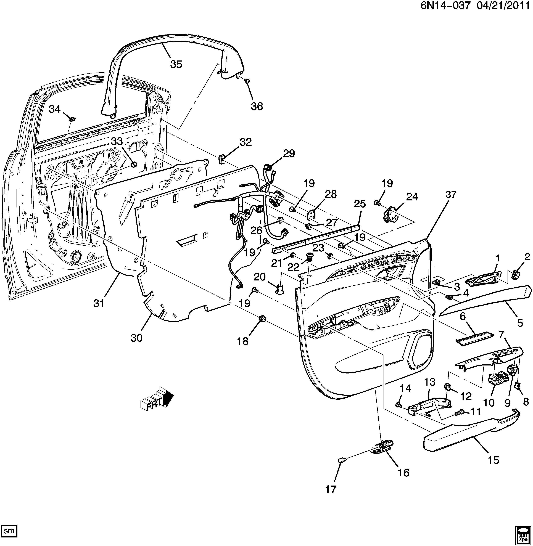 Cadillac Srx Harness Body Wiring Harness Frt S D