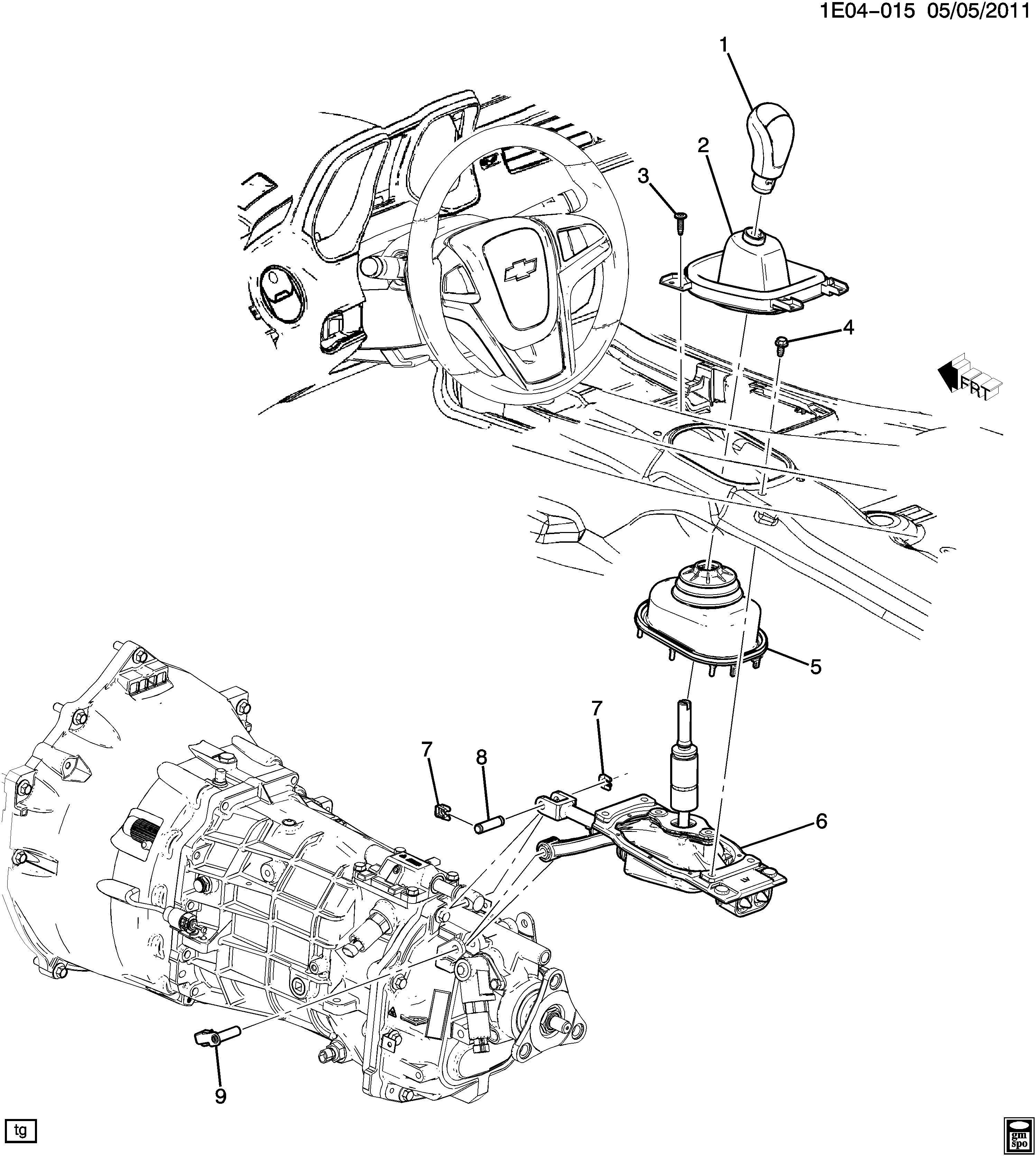 Chevrolet Camaro Ss 2ss 2dr Pin Transmission Shifter