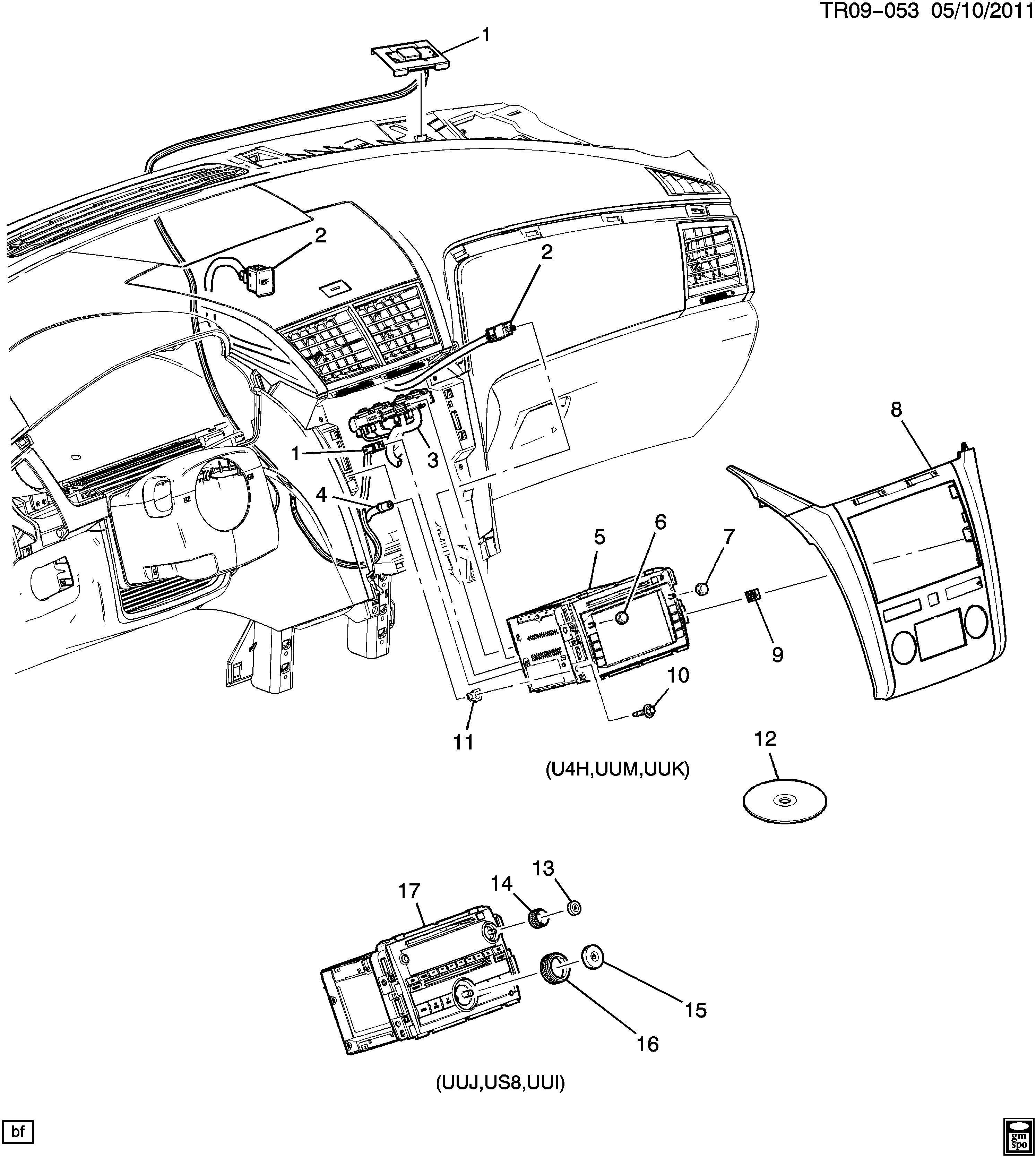 Chevrolet Traverse Radio Radio Receiver Usbacdelco Amfm