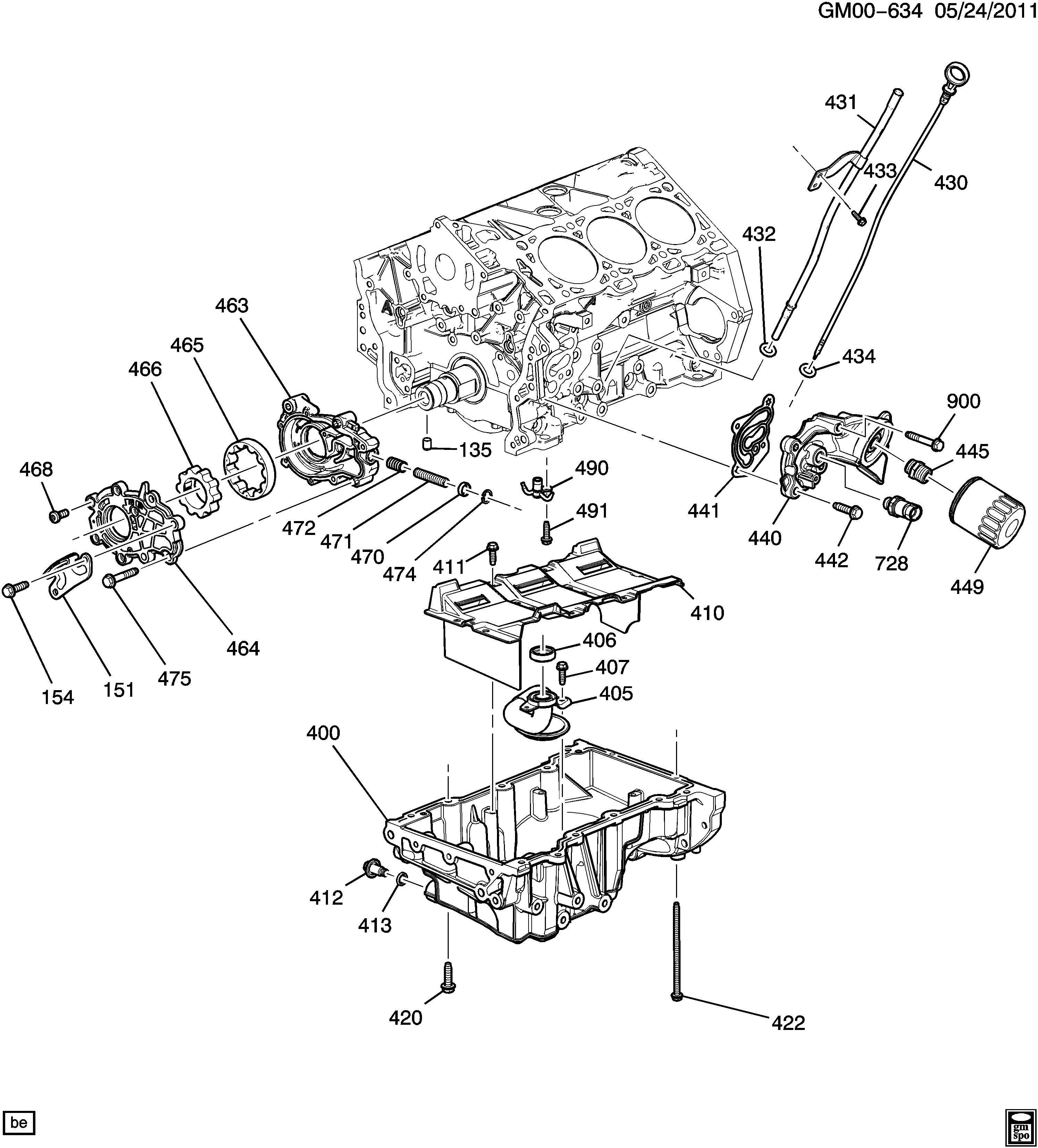 Chevrolet Impala Fitting Engine Oil Filter Fitting Oil