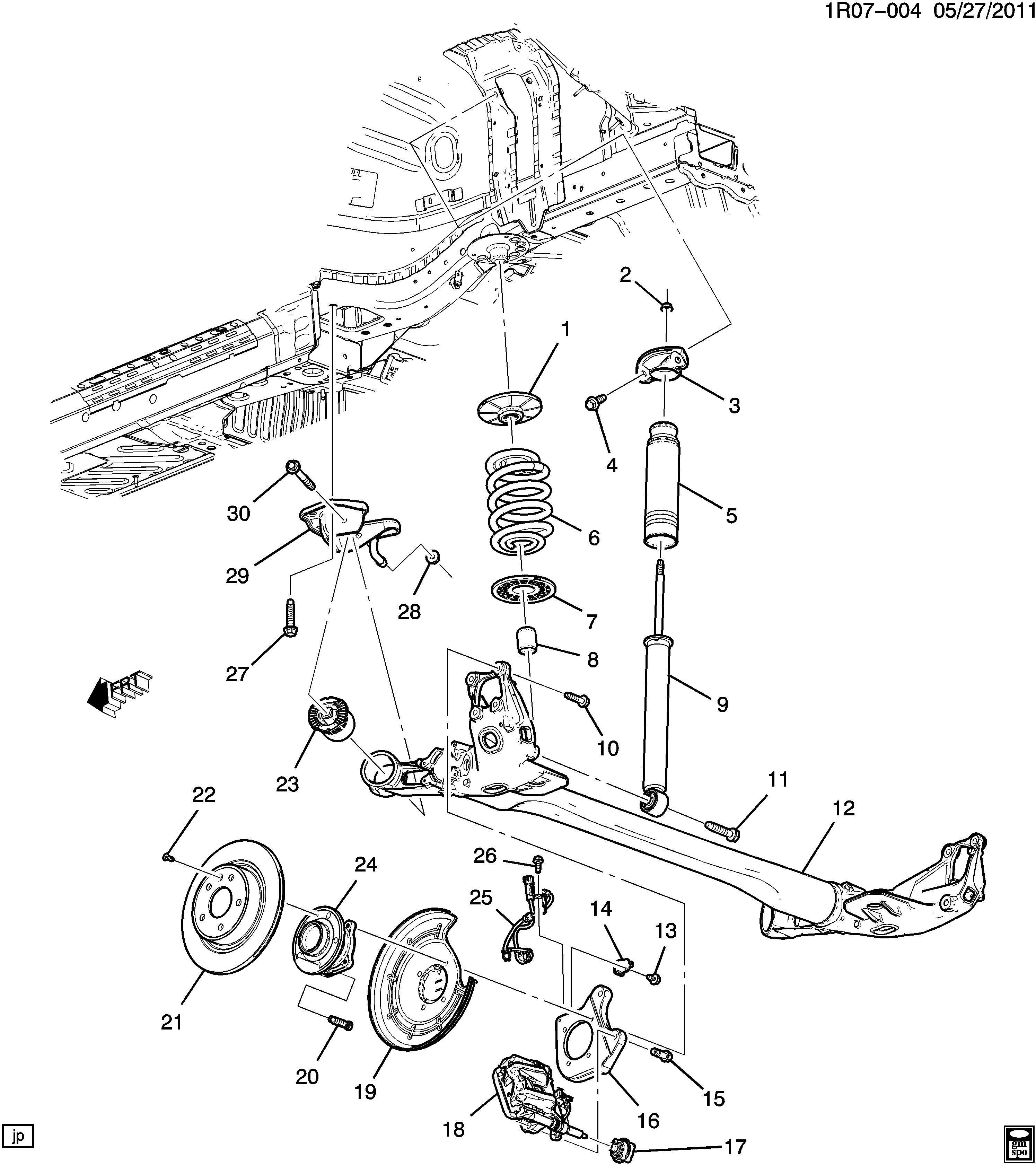 Chevrolet Volt Premium Hatchback Rear Wheel Bearing