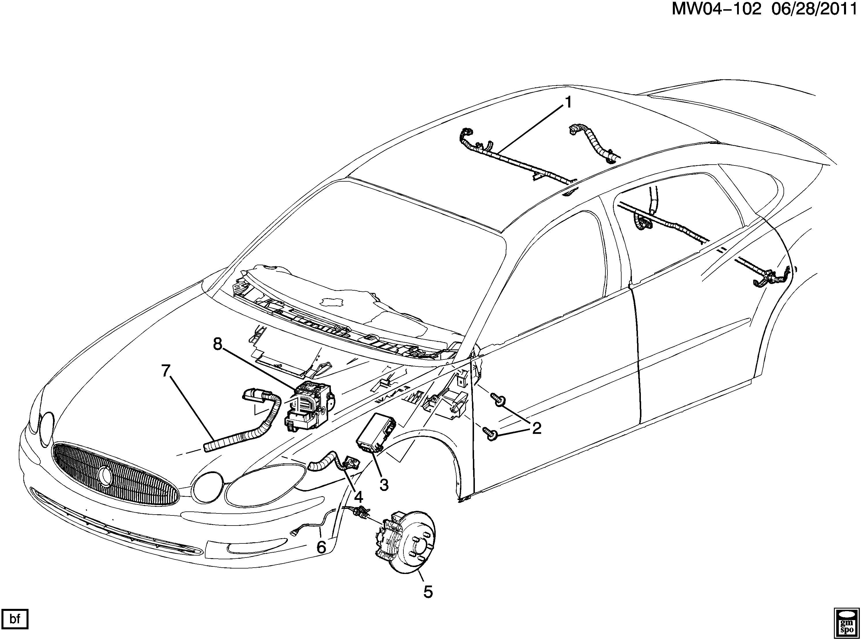 Buick Lacrosse Cxl 4dr Harness Electronic Brake