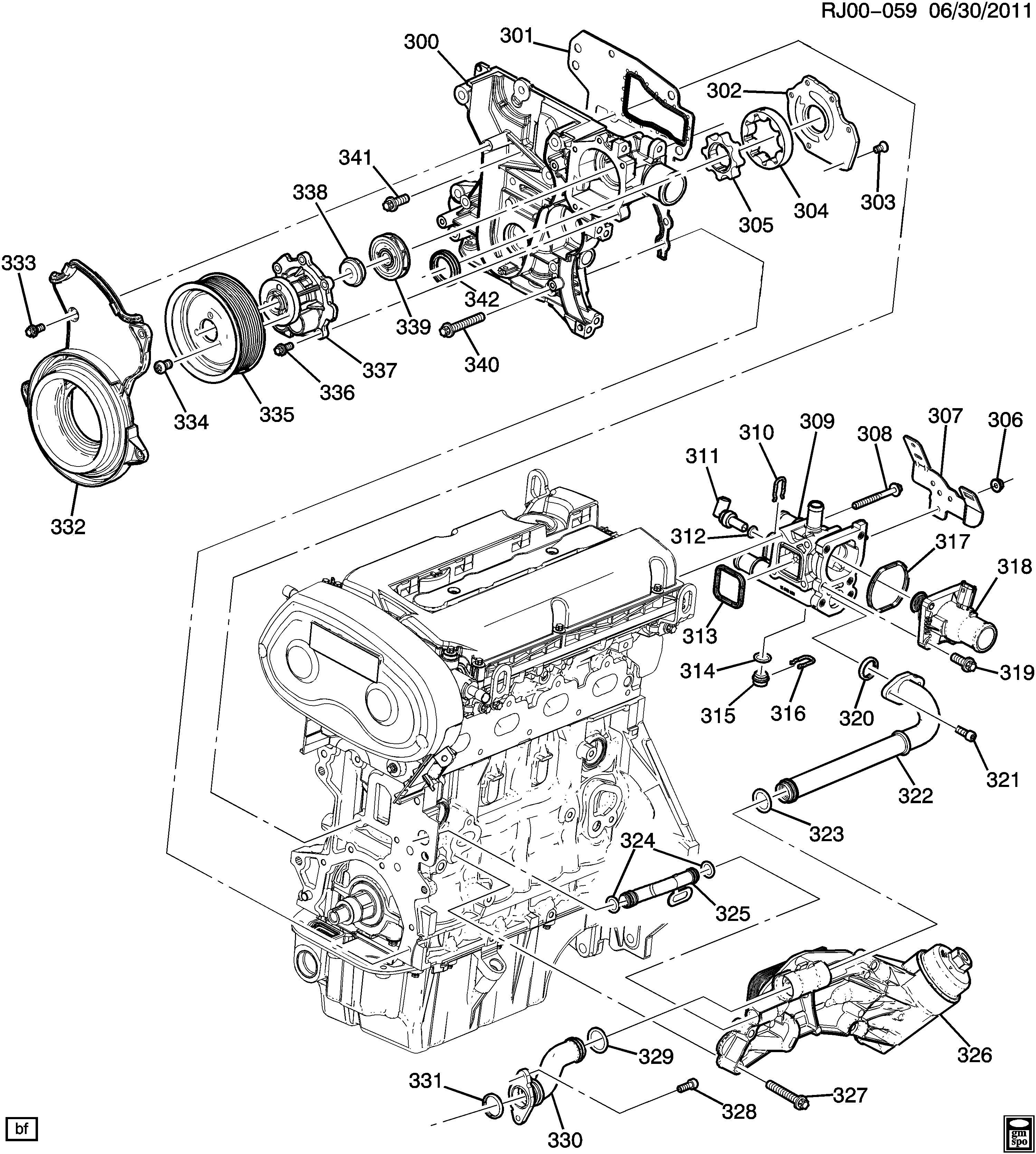 Chevrolet Sonic Thermostat Engine Coolant Temperature