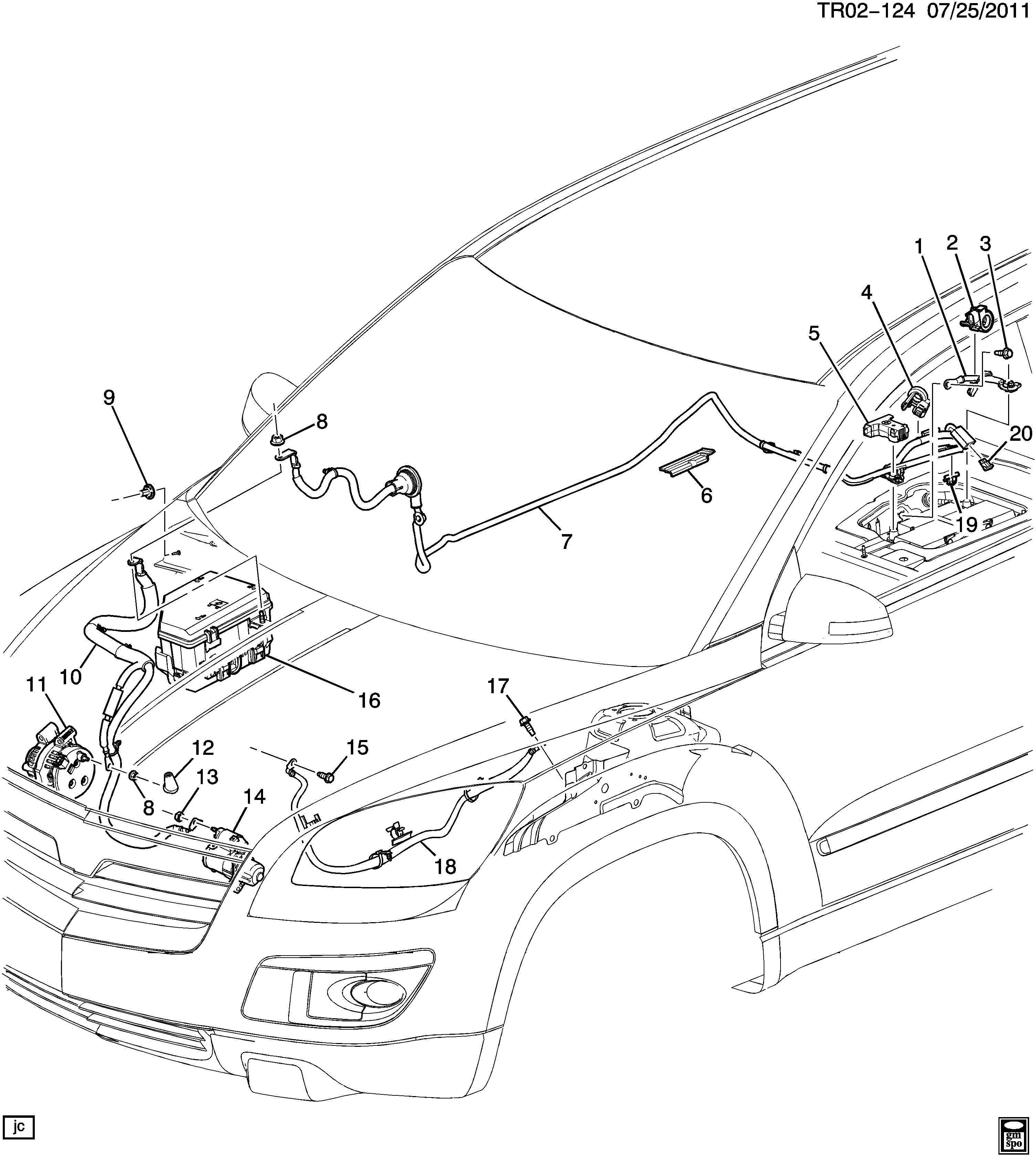 Buick Enclave Cable Battery Ground Battery Negative