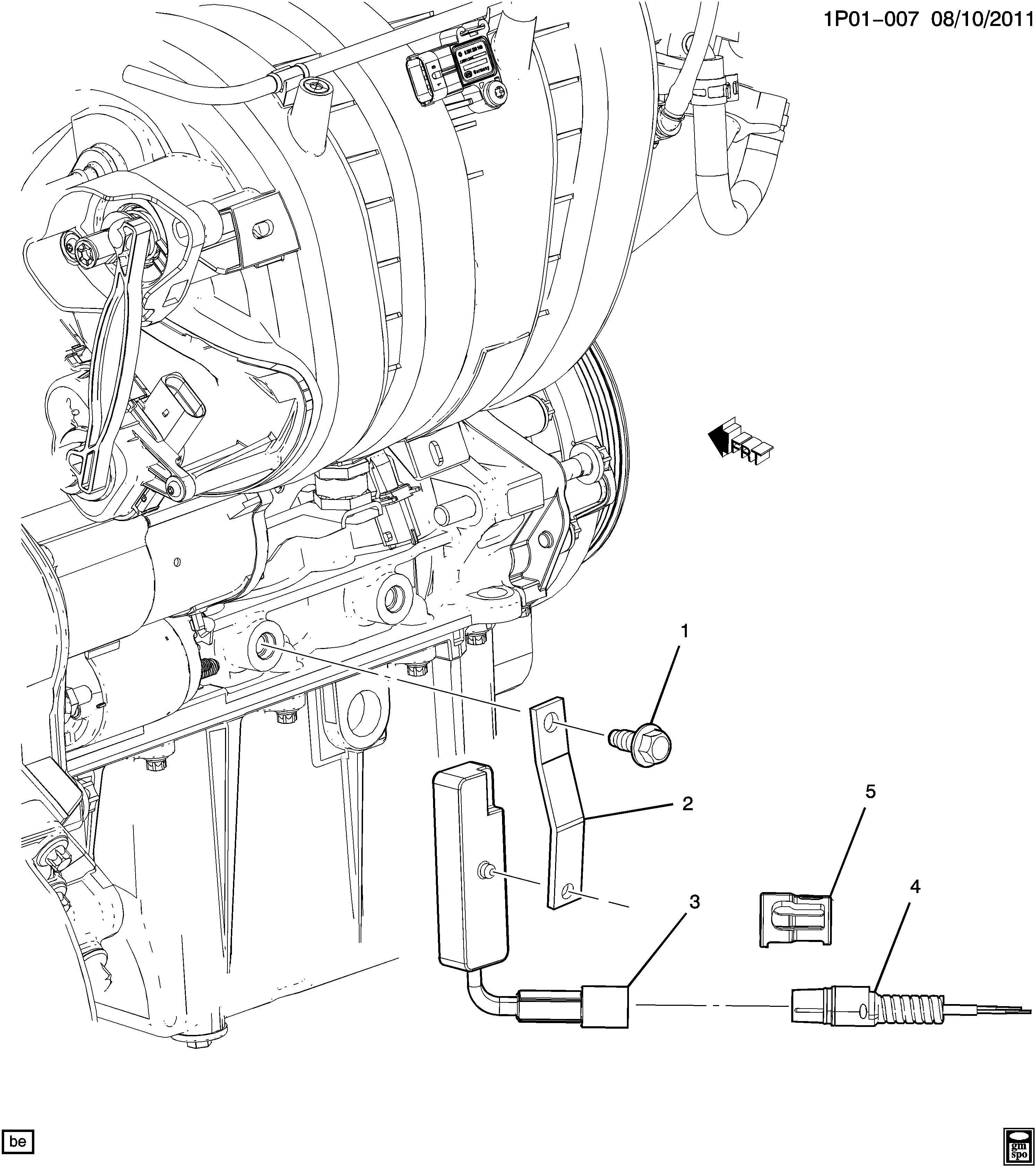 Chevrolet Sonic Heater Engine Coolant Heater Engine Oil