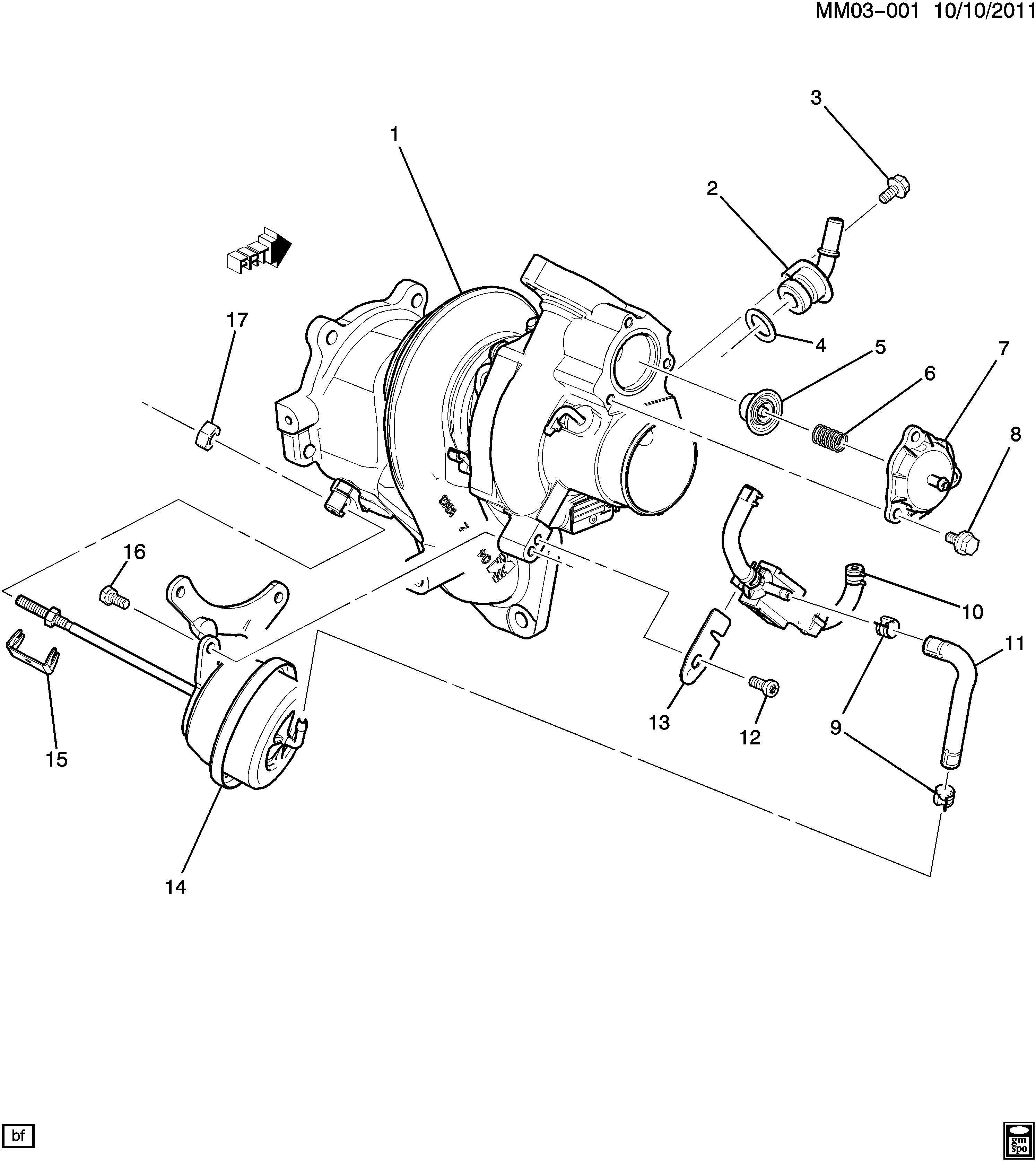 Pontiac Solstice Actuator Kit Turbocharger
