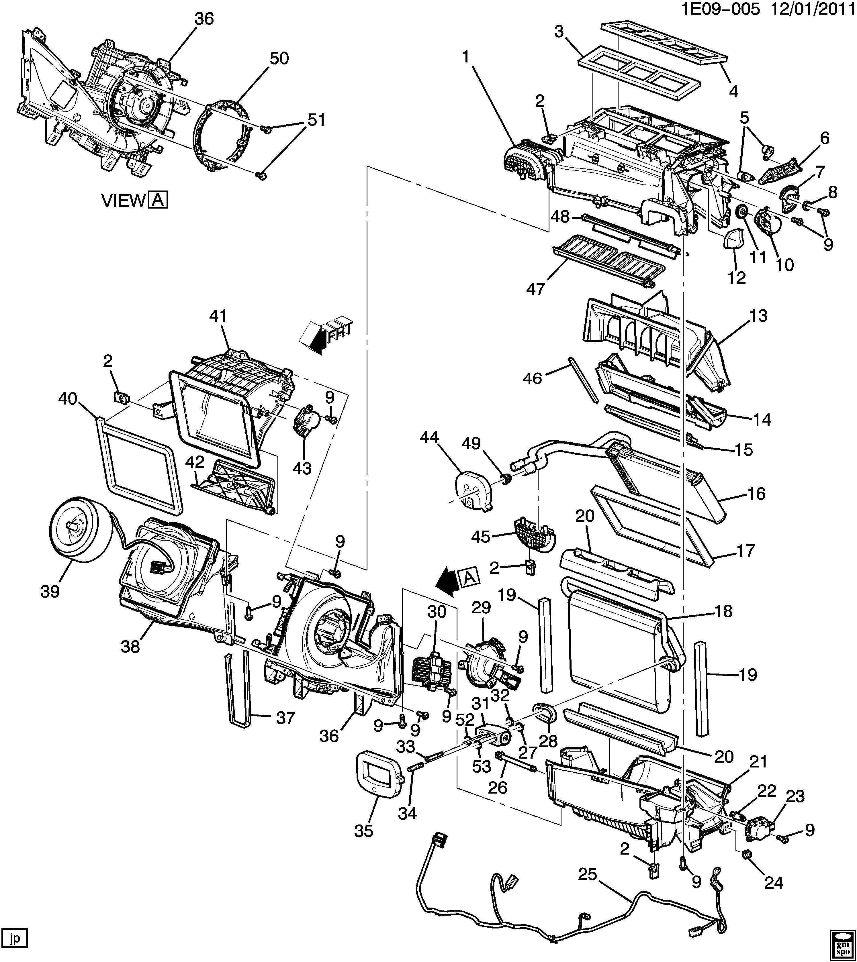 Chevrolet Camaro Case Air Conditioning A C Evaporator