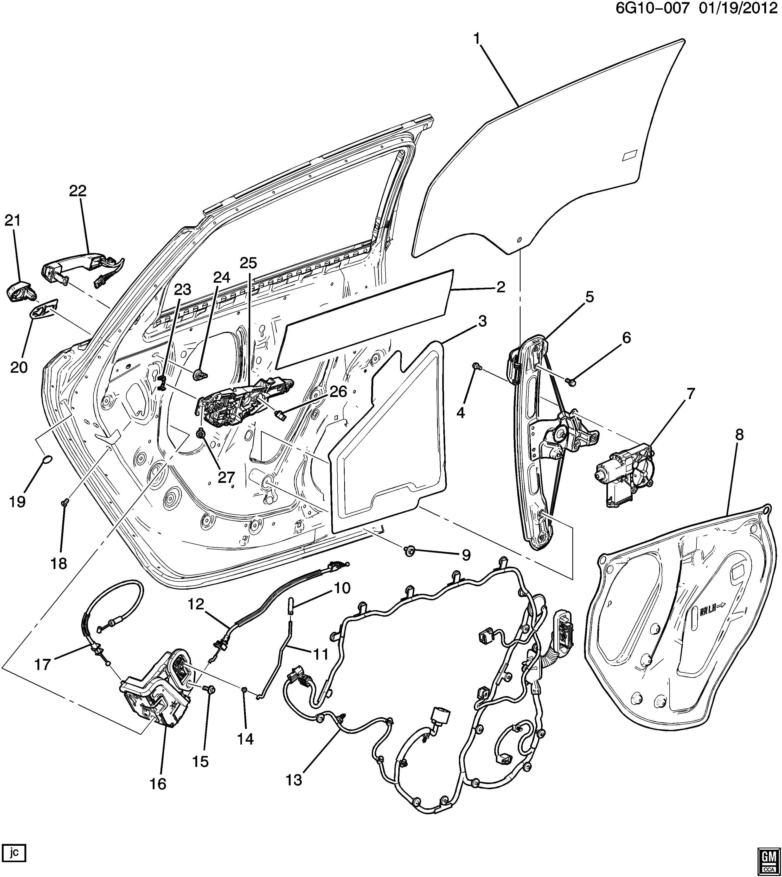 Chevrolet Camaro Clip Door Inside Locking Rod Door