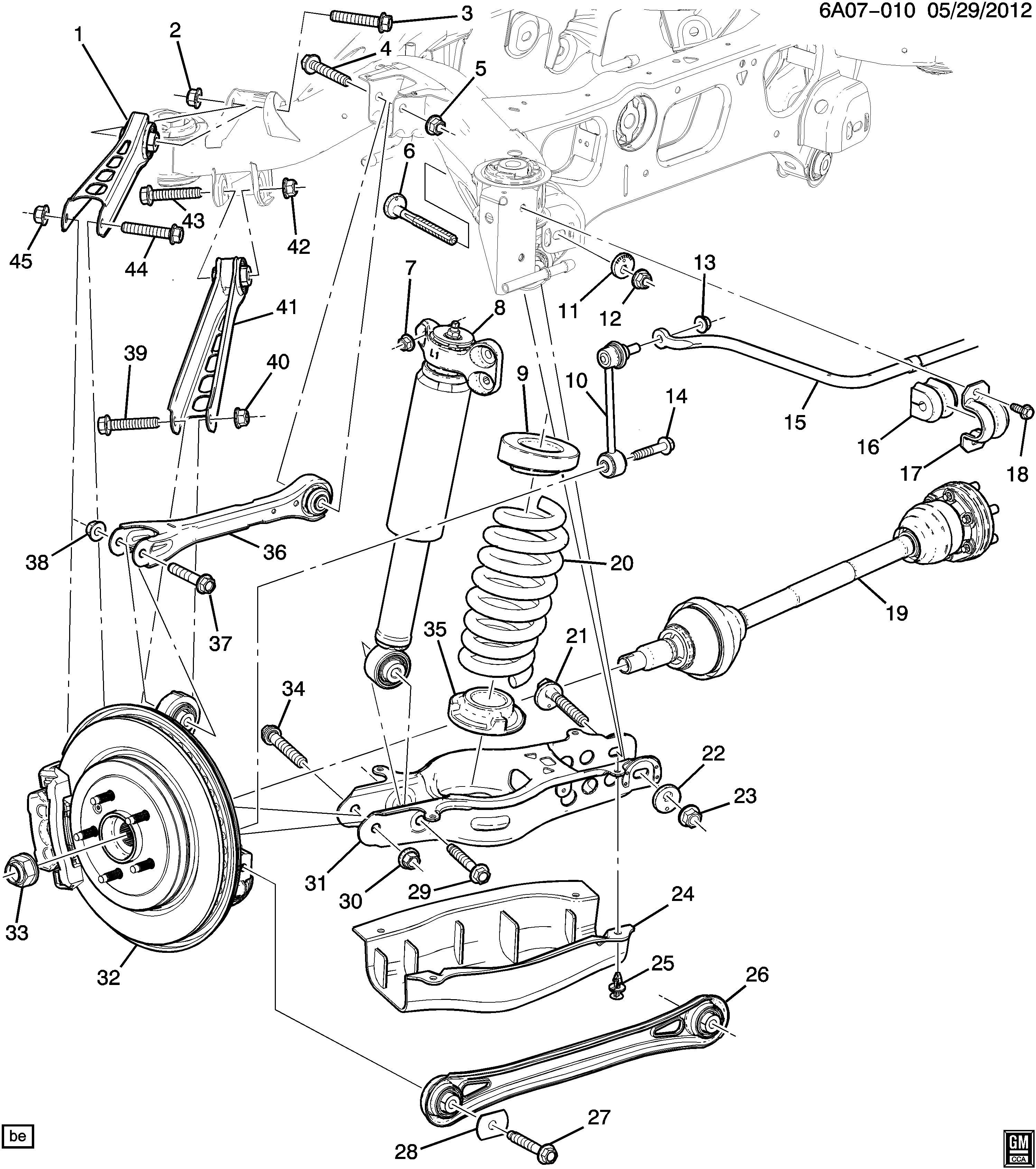 Cadillac Ats Absorber Front And Rear Suspension