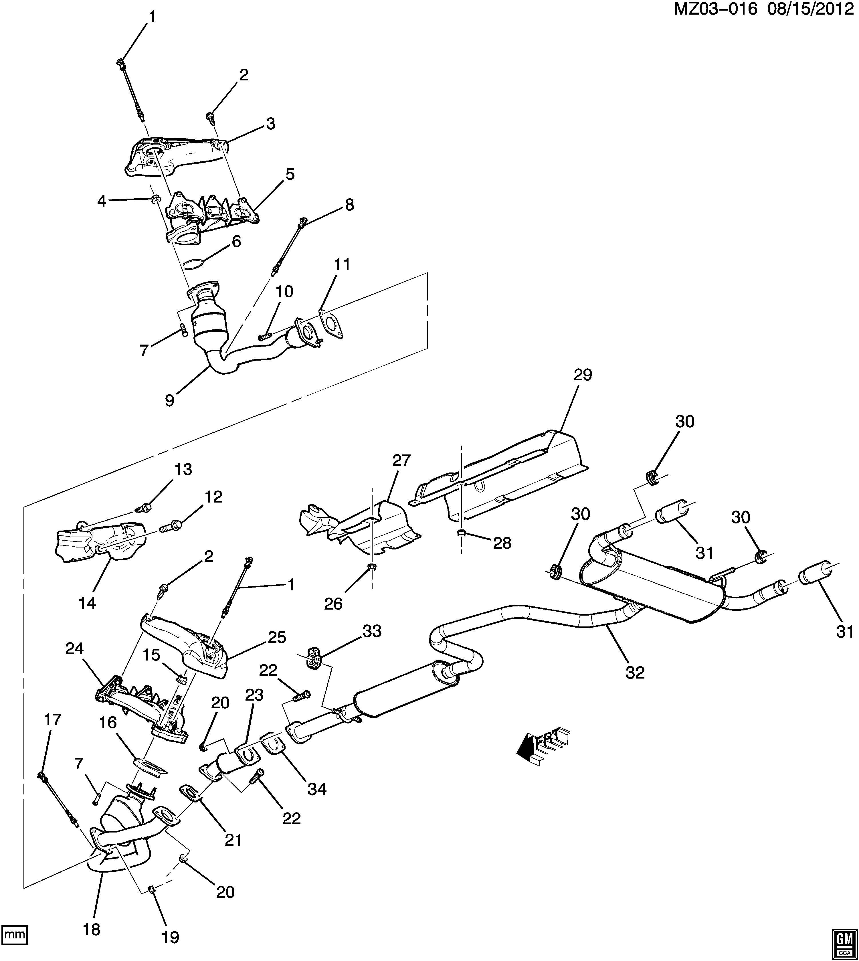 Pontiac G6 Gasket Catalytic Converter Gasket Ctltc Conv