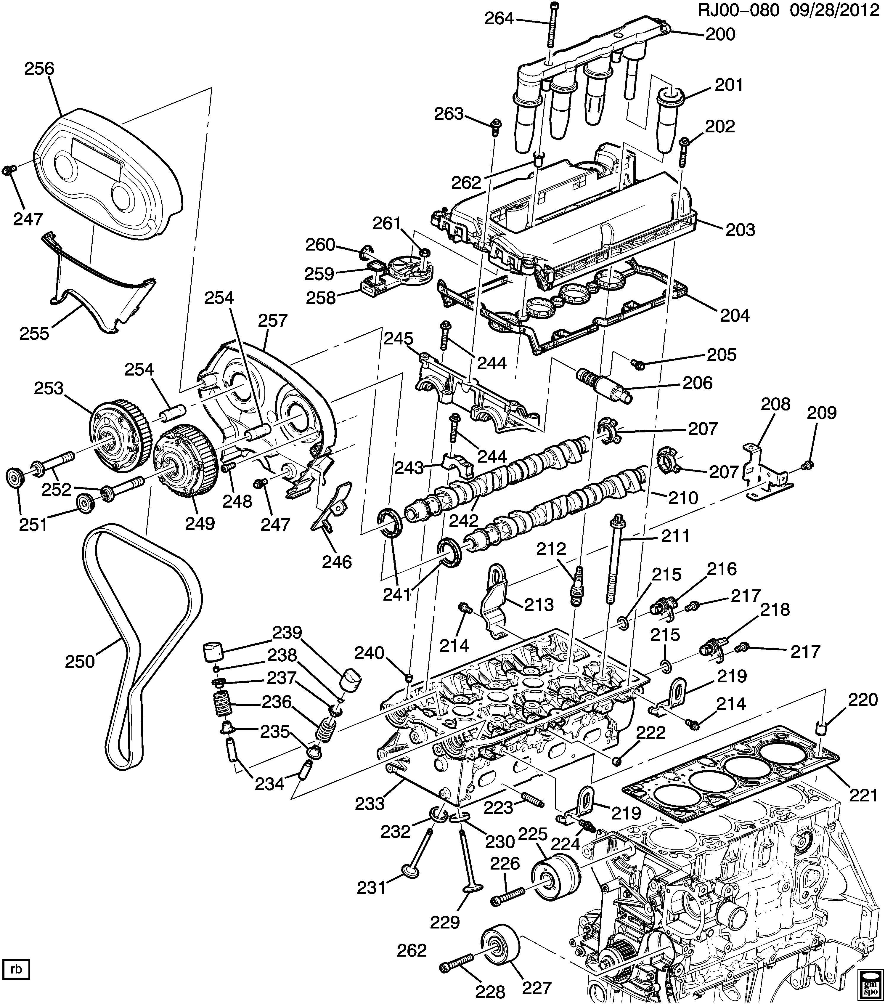 Chevrolet Cruze Bolt Ignition Coil Mounting Bolt