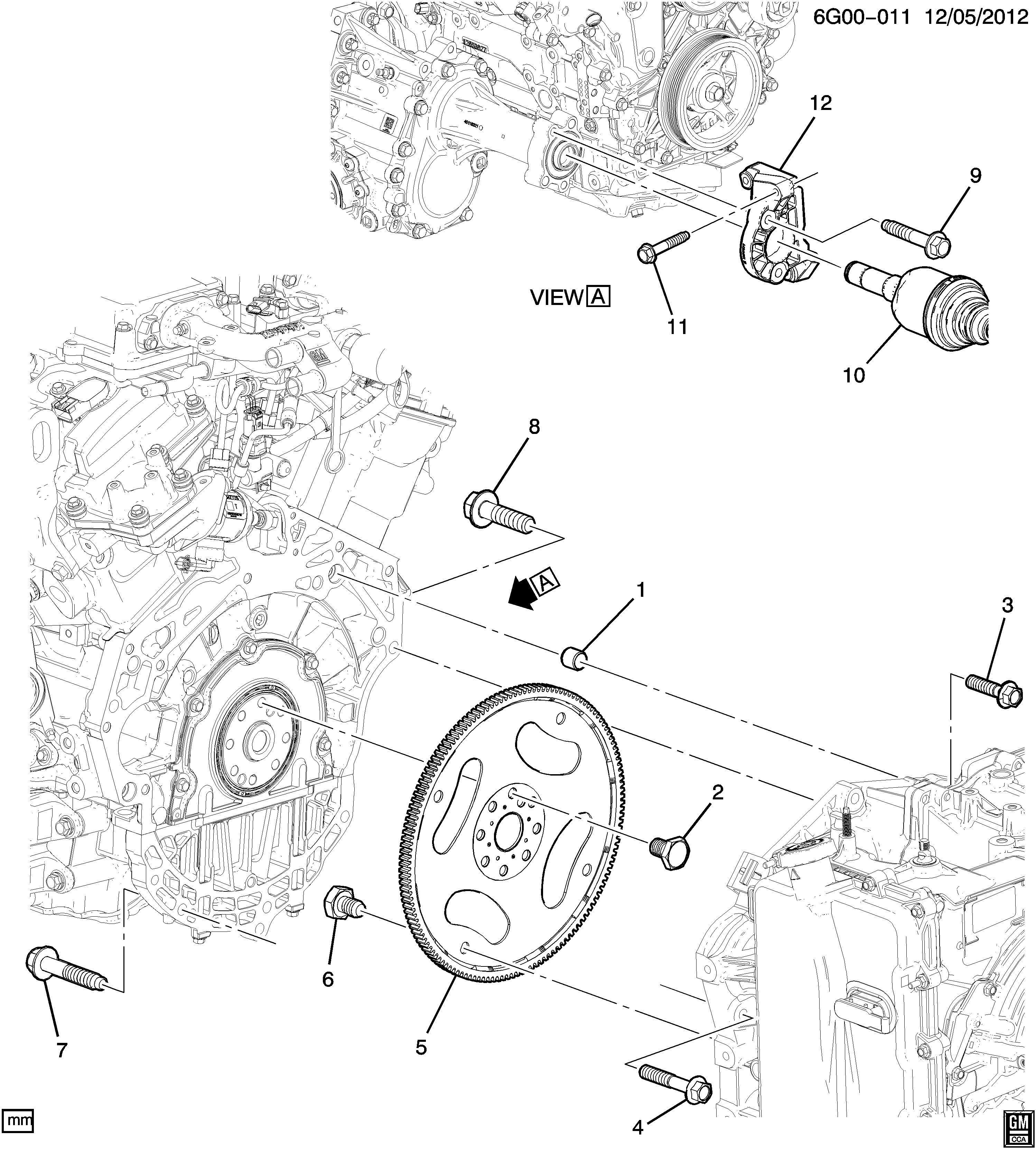 Pontiac G8 Pin Engine Clutch Housing Or Transmission Pin