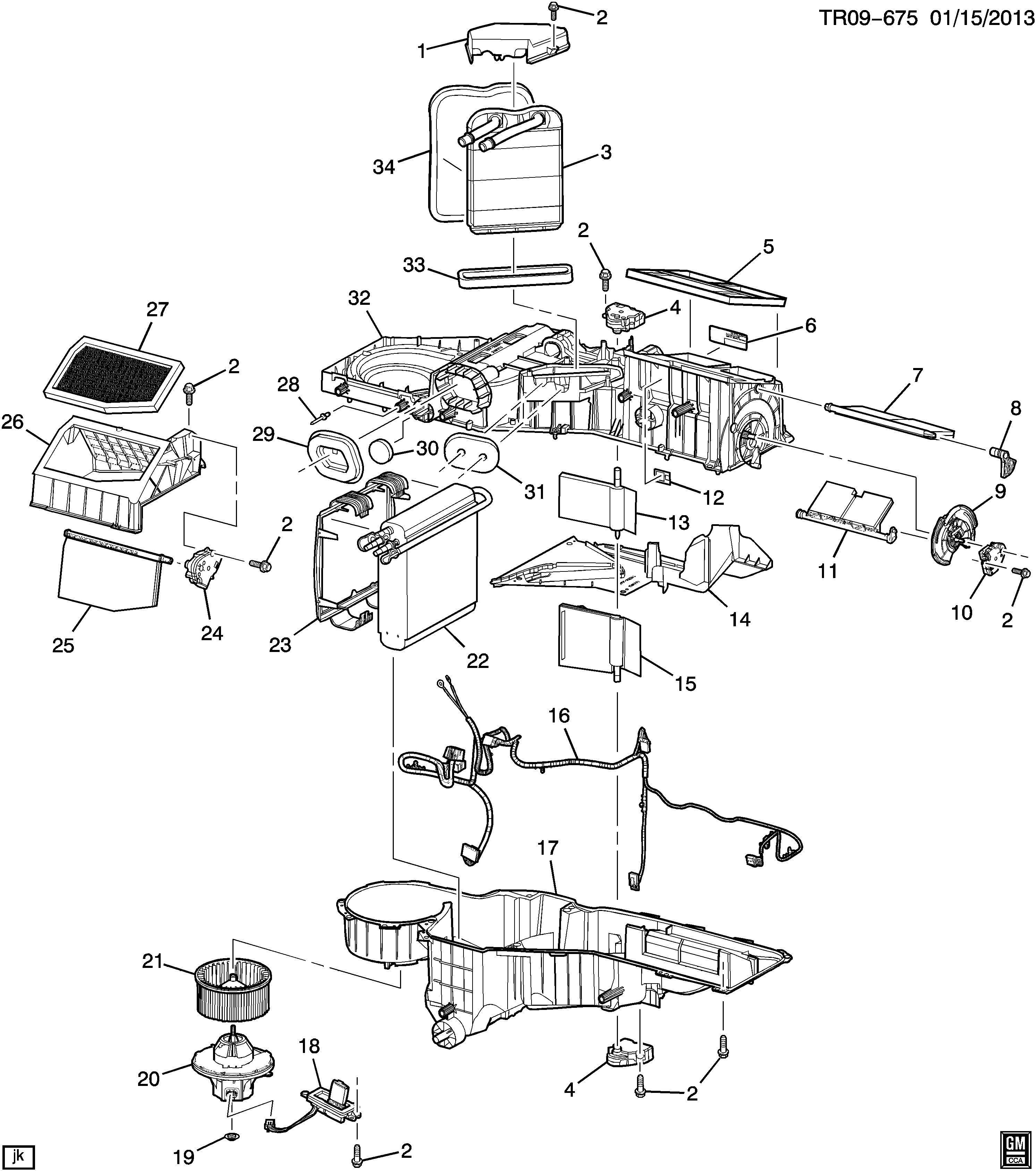 Chevrolet Silverado Base Actuator Air Conditioning