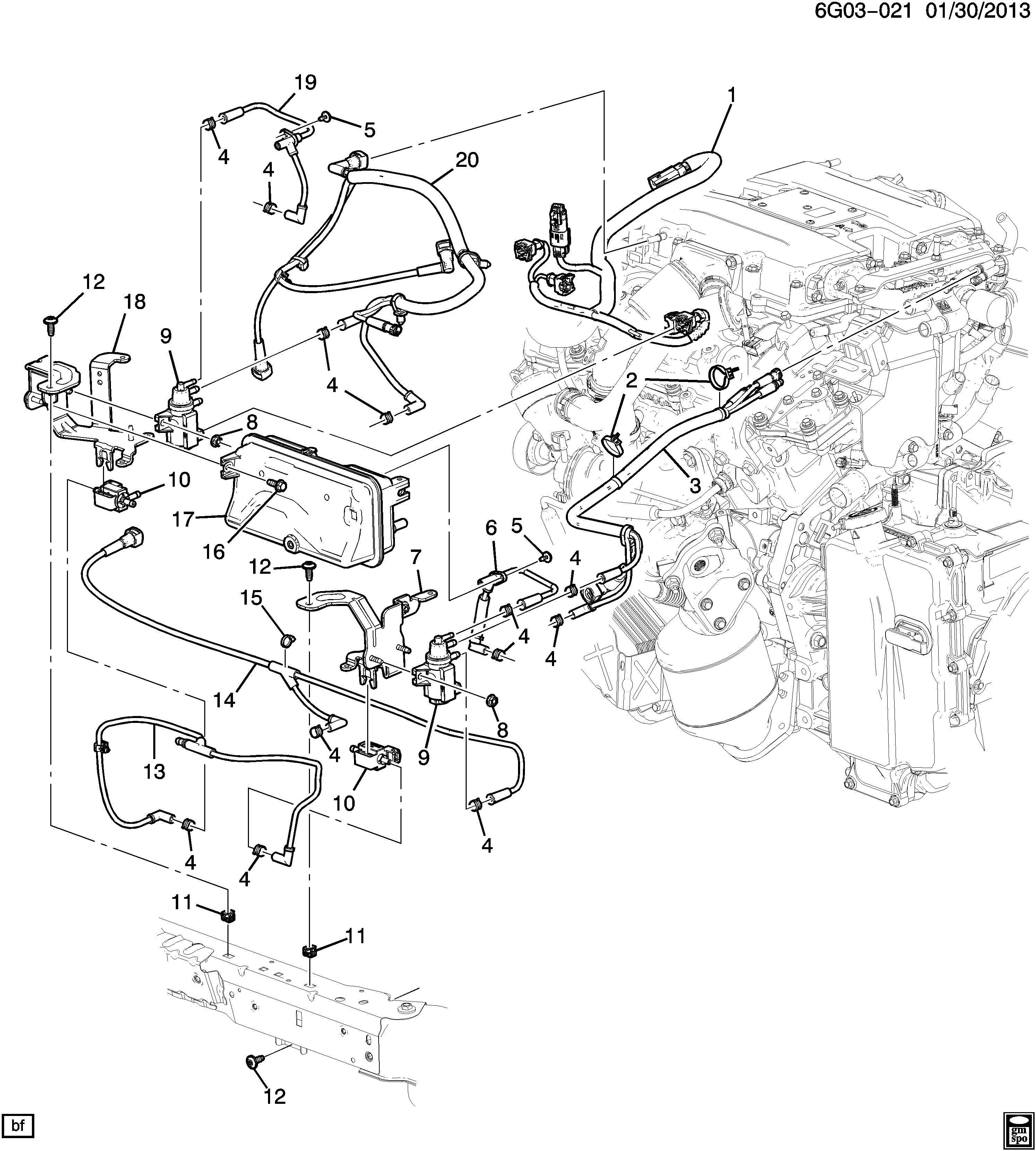 Chevrolet P30 Strap Clip Emission System Transmission