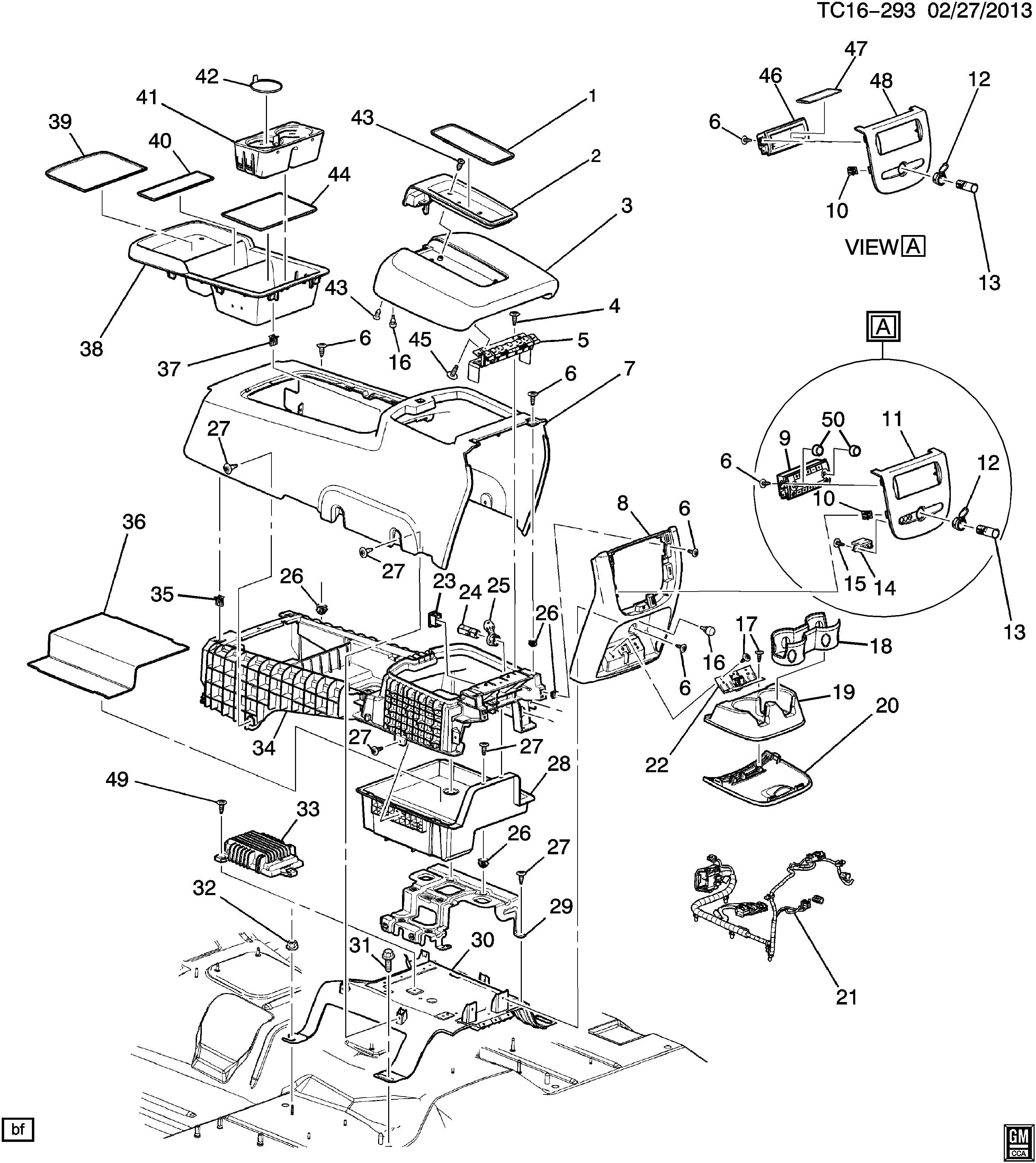 wiring diagram database  chevrolet silverado console floor