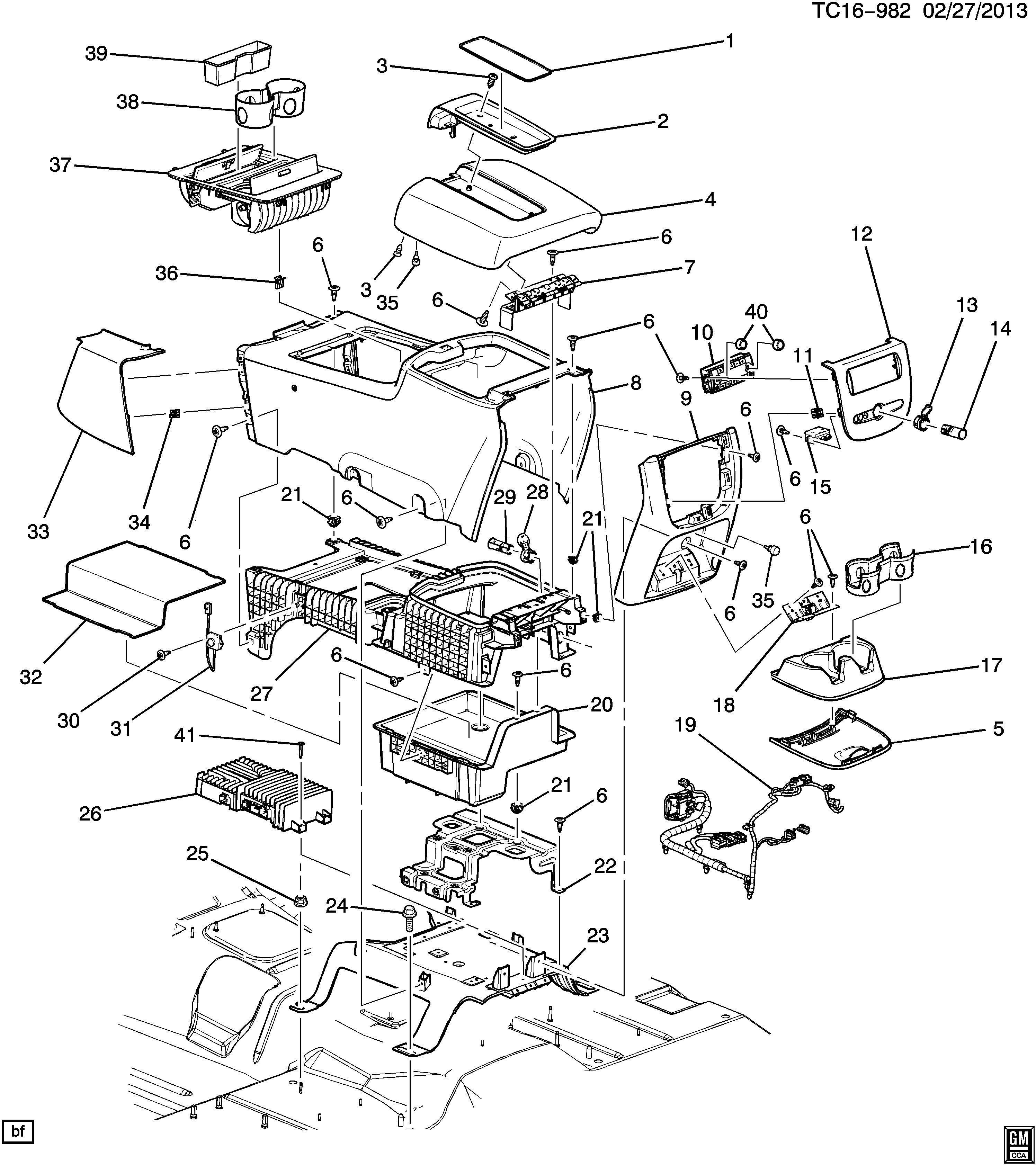 Chevrolet Tahoe Ashtray Floor Console Seat Separator