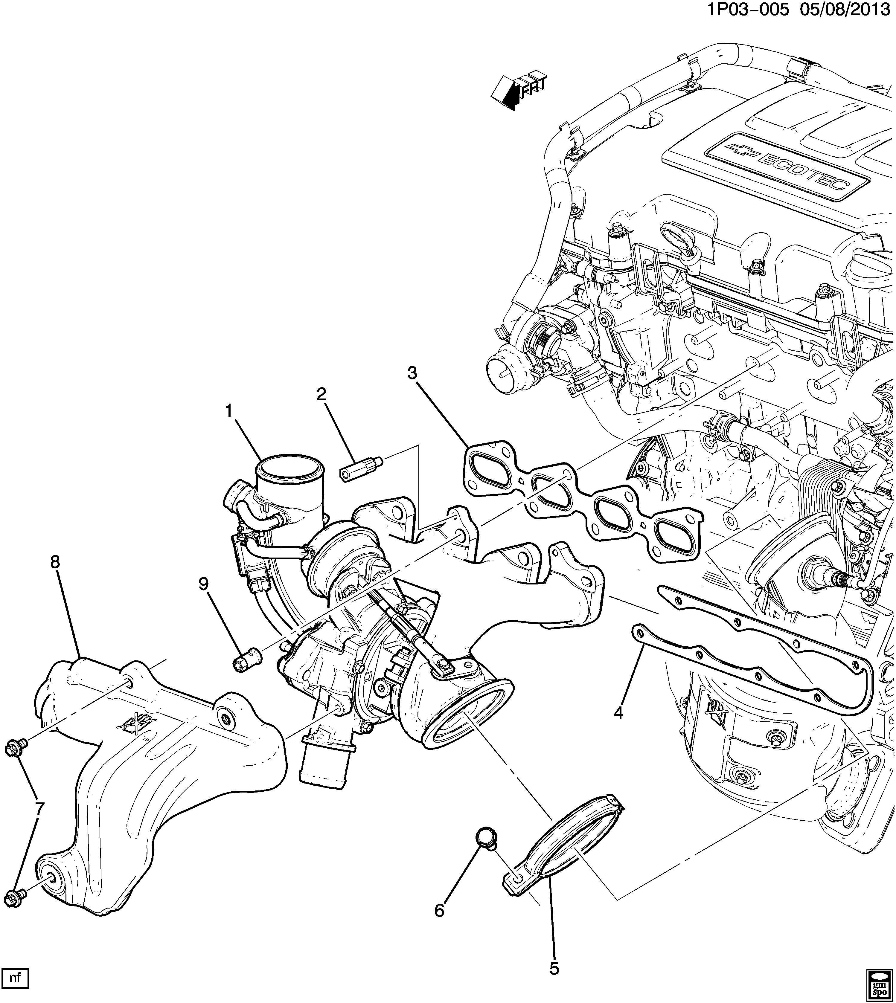 Chevrolet Cruze Nut Exhaust Manifold Bolt Nut Exh