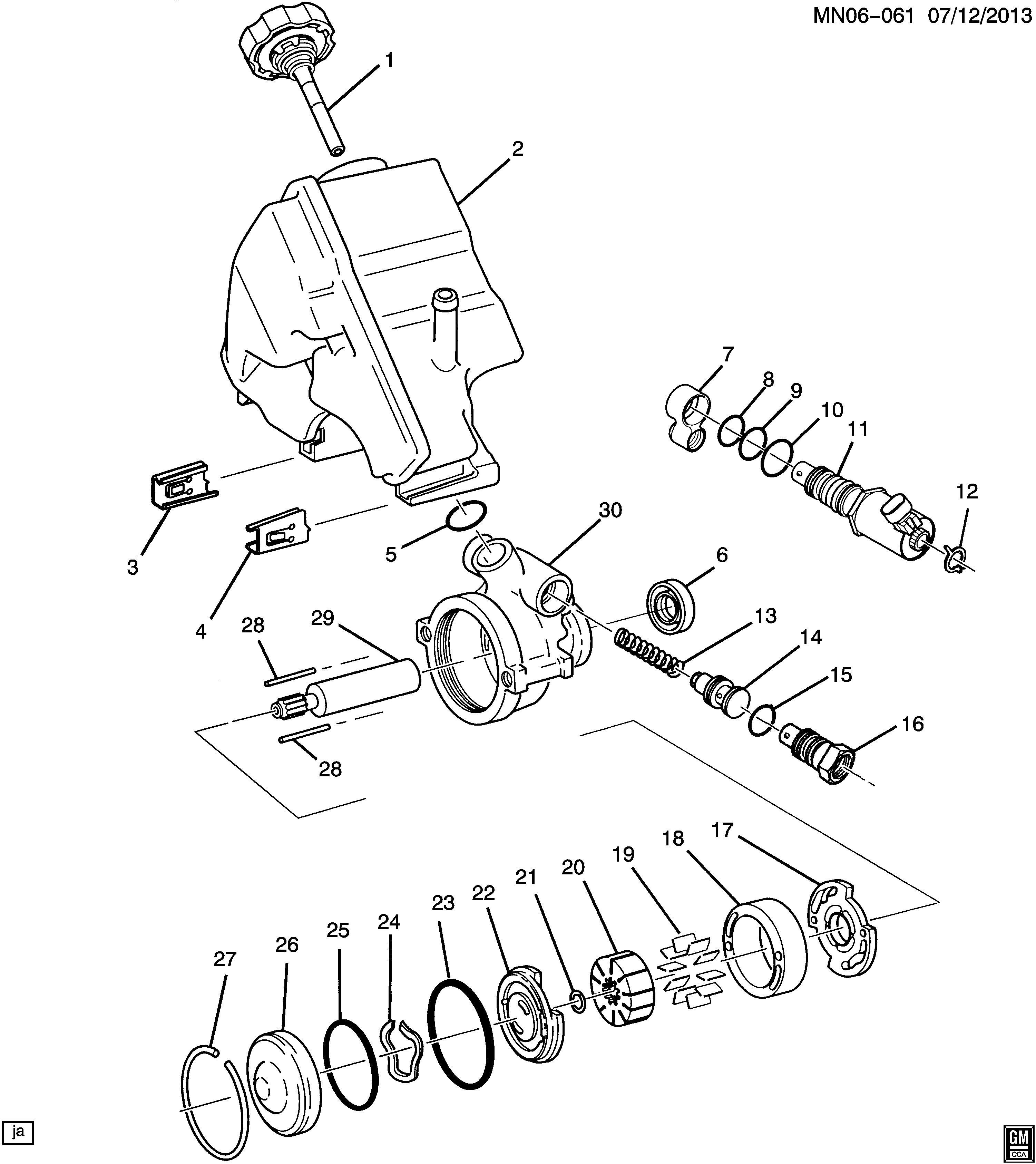 Oldsmobile Alero Actuator Steering Pump Control