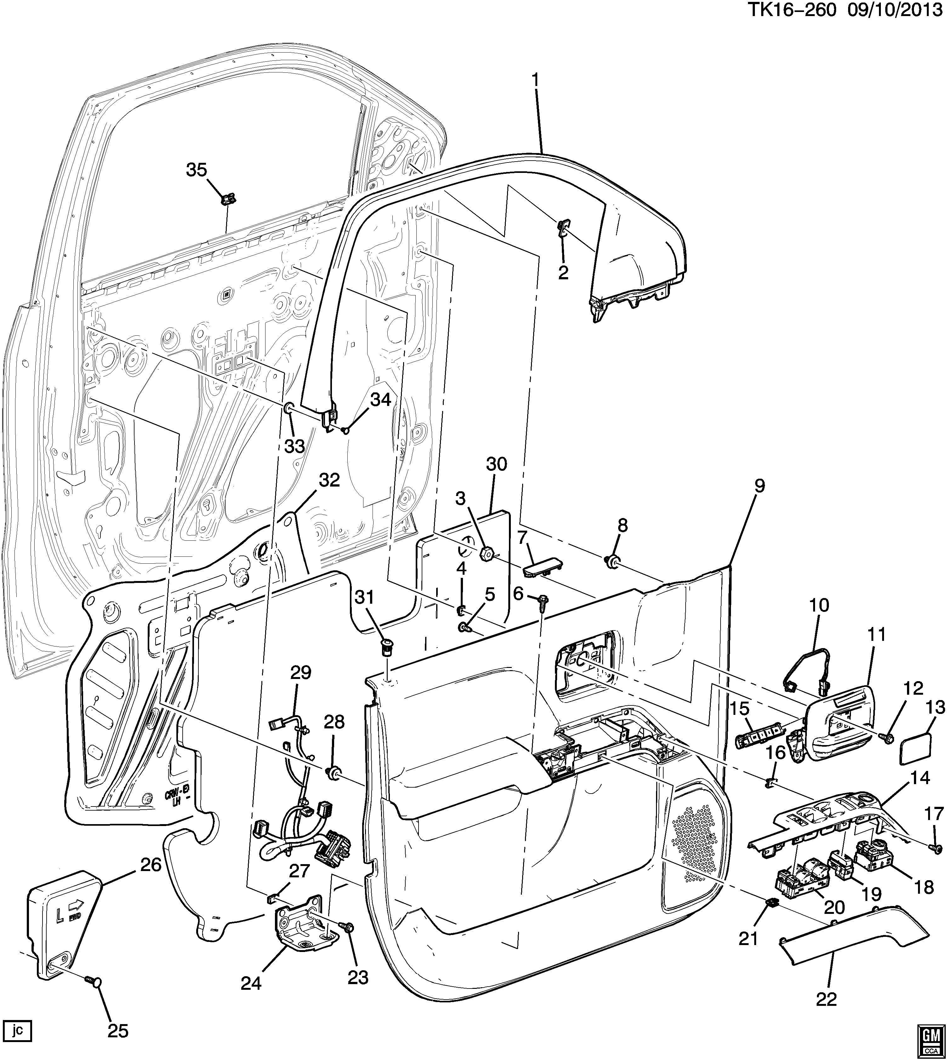 Chevrolet Silverado Trim Armrest Trim Frt S D A Rst Cvr