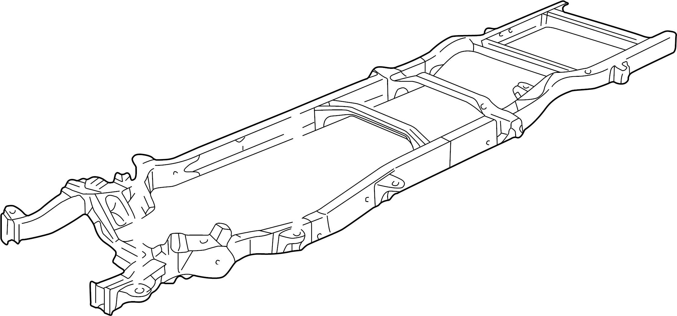 Chevrolet G20 Frame Chassis Wbcutaway