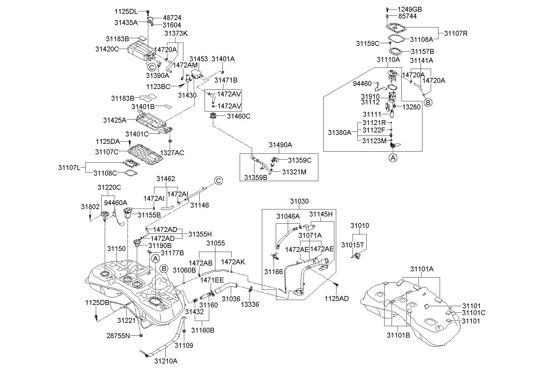 Hyundai Genesis Filter Air Secondary Vapor Pump