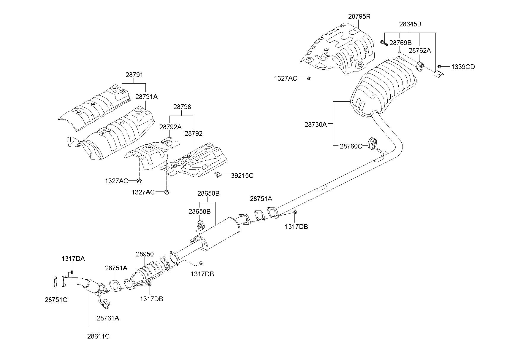 Hyundai Santa Fe Catalytic Converter Diagram