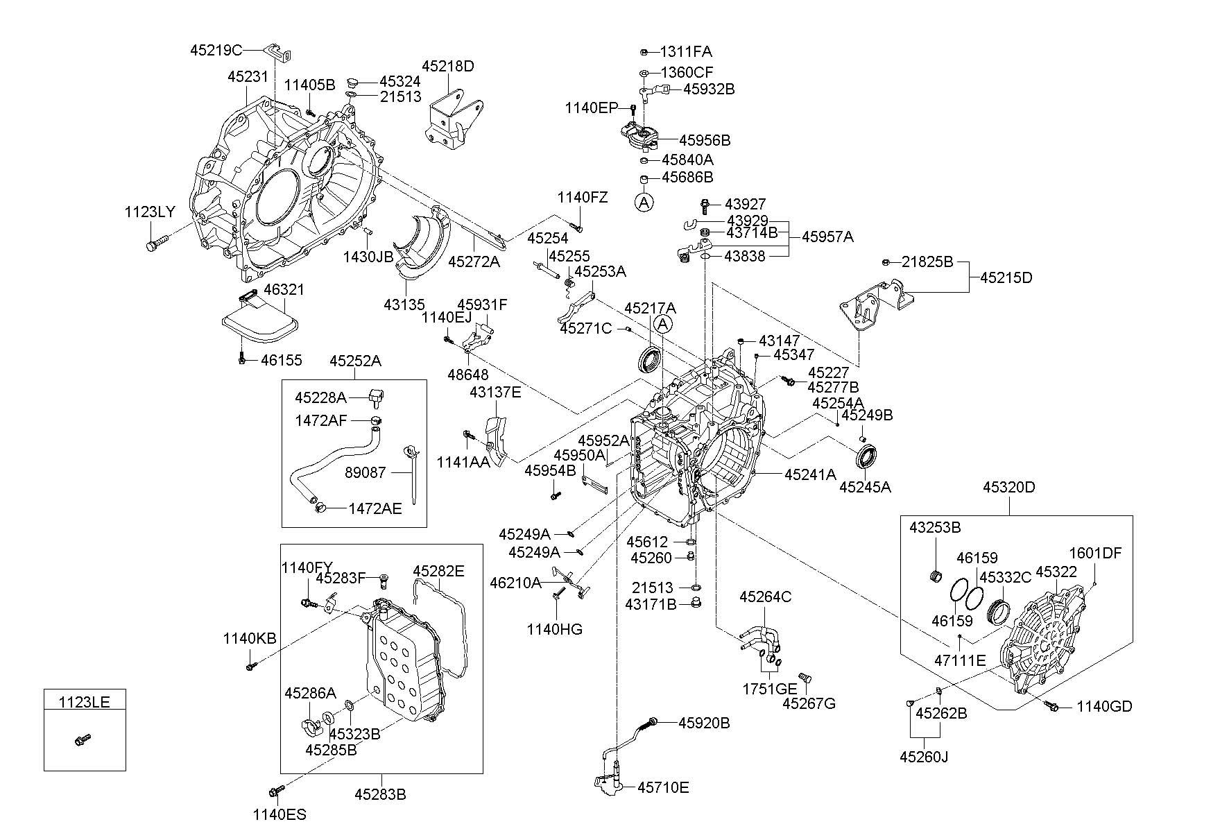 Hyundai Azera Filter Valve Transmission Assembly