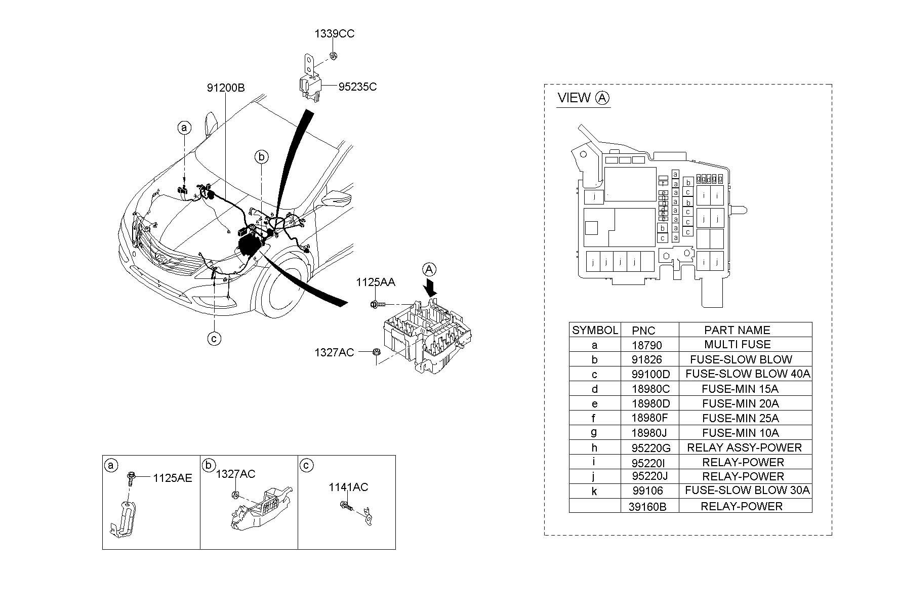 Hyundai Elantra Fuse Box Relay Box Amp Wiring